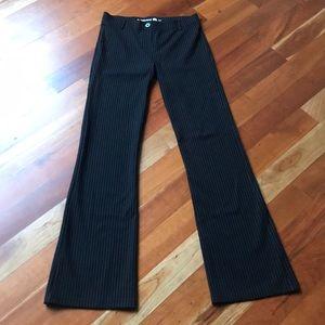 BetaBrand Black Striped Boot Cut Dress Yoga Pants